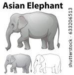 Asian Elephant In Three...