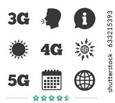 mobile telecommunications icons.... | Shutterstock .eps vector #633215393