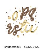 chocolate and vanilla cream... | Shutterstock .eps vector #633233423