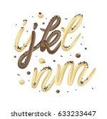 chocolate and vanilla ice cream ... | Shutterstock .eps vector #633233447