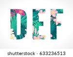 vector alphabet set. retro... | Shutterstock .eps vector #633236513