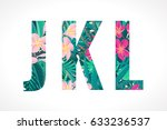 vector alphabet set. retro... | Shutterstock .eps vector #633236537