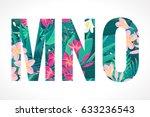vector alphabet set. retro... | Shutterstock .eps vector #633236543