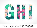 vector alphabet set. retro... | Shutterstock .eps vector #633236567