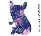 bulldog silhouette  vector ... | Shutterstock .eps vector #633238763