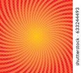 red burst background. swirling... | Shutterstock .eps vector #633244493