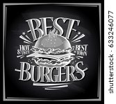 best hot and tasty burgers... | Shutterstock .eps vector #633246077