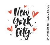 new york city modern hand... | Shutterstock .eps vector #633255737