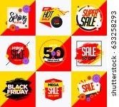 mega sales banner. sale and... | Shutterstock .eps vector #633258293