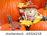 Decorative Scarecrow Surrounde...