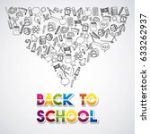 back to school set supplies icon | Shutterstock .eps vector #633262937
