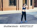 training outdoors. | Shutterstock . vector #633272117
