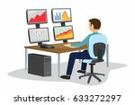 businessman trading stocks....