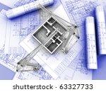 3d plan drawing | Shutterstock . vector #63327733