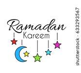 lettering ramadan kareem...   Shutterstock .eps vector #633293567