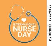 vector international nurse day... | Shutterstock .eps vector #633295583
