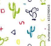 vector hand drawn seamless...   Shutterstock .eps vector #633298043