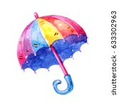lovely colorful watercolor... | Shutterstock . vector #633302963