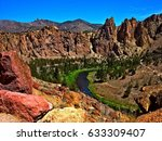 canyon bend   crooked river... | Shutterstock . vector #633309407