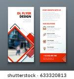 dl flyer design. corporate... | Shutterstock .eps vector #633320813