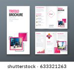 tri fold brochure design.... | Shutterstock .eps vector #633321263