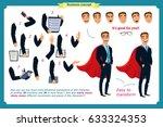 set of super businessman... | Shutterstock .eps vector #633324353