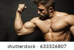 an image of a muscular man... | Shutterstock . vector #633326807