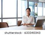 portrait of businesswoman... | Shutterstock . vector #633340343