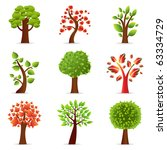 collection of trees  isolated... | Shutterstock . vector #63334729