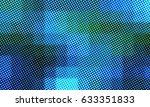 Color Halftone Pixel Pattern.