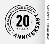 20 years anniversary logo... | Shutterstock .eps vector #633353597