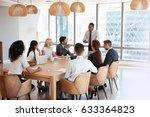 businessman stands to address... | Shutterstock . vector #633364823