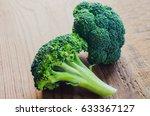 broccoli green. fresh broccoli... | Shutterstock . vector #633367127