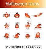 halloween icons vector  ...