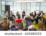 round table discussion at... | Shutterstock . vector #633385253