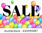 realistic colorful balloons... | Shutterstock .eps vector #633394487