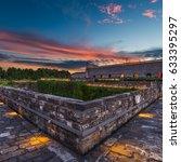 sunset over nanjing  china ... | Shutterstock . vector #633395297