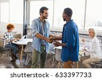 happy young male business... | Shutterstock . vector #633397733