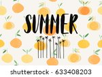 summer illustration  | Shutterstock .eps vector #633408203