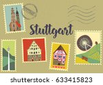 hand drawn illustration of... | Shutterstock .eps vector #633415823