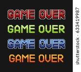"pixel inscription ""game over"".... | Shutterstock .eps vector #633419987"