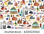 france seamless pattern. france ... | Shutterstock .eps vector #633423563