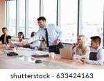 businessman stands to address... | Shutterstock . vector #633424163