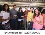 portrait of smiling business... | Shutterstock . vector #633430937