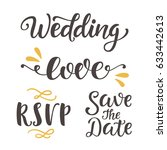 wedding day invitations... | Shutterstock .eps vector #633442613