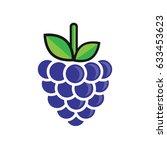 cute blackberry | Shutterstock .eps vector #633453623