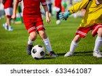 boys with soccer ball. children ... | Shutterstock . vector #633461087