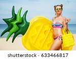 summer lifestyle portrait of... | Shutterstock . vector #633466817