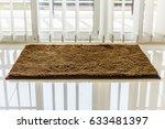 brown cleaning door mat on the... | Shutterstock . vector #633481397