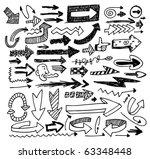 doodle arrow set | Shutterstock .eps vector #63348448